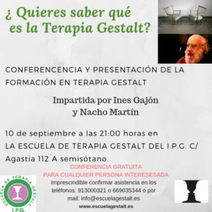 Conferencia Terapia Gestalt